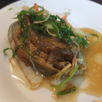 Abalone with Soy Ginger Dressing