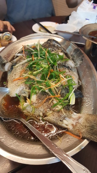 Steamed Fish with Soy Ginger & Scallions