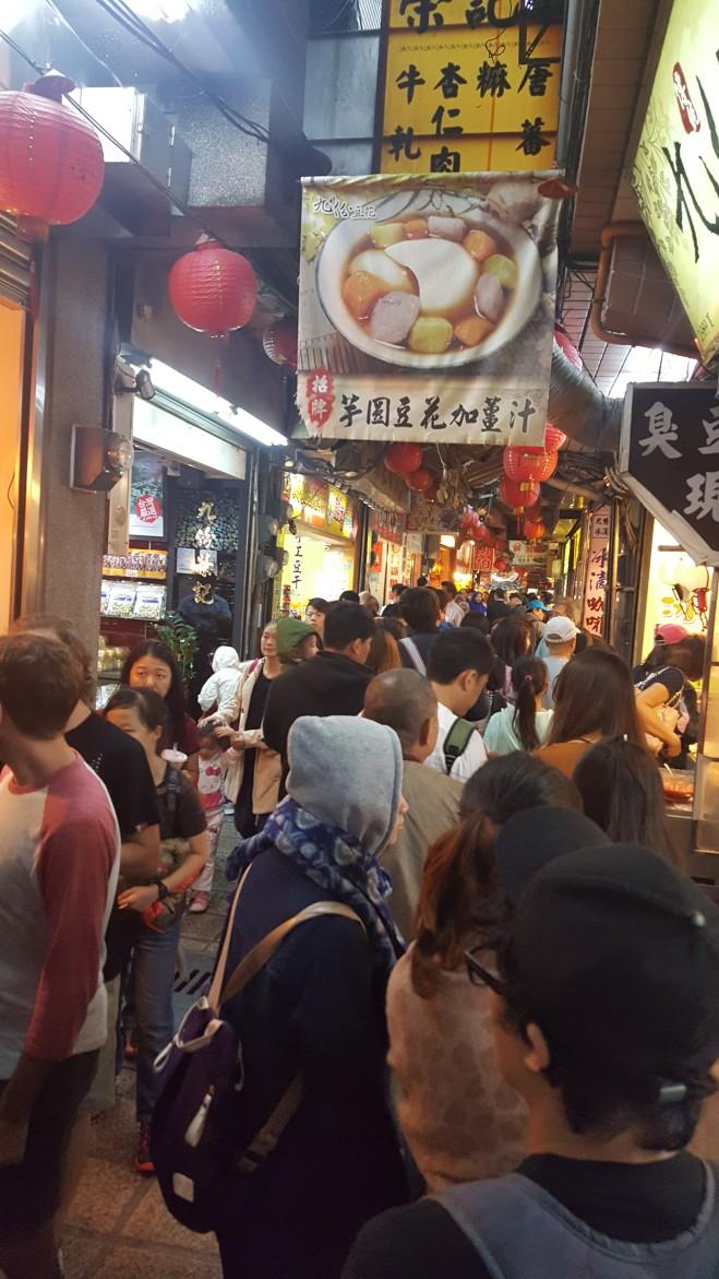 Jiufen crowded alleyway
